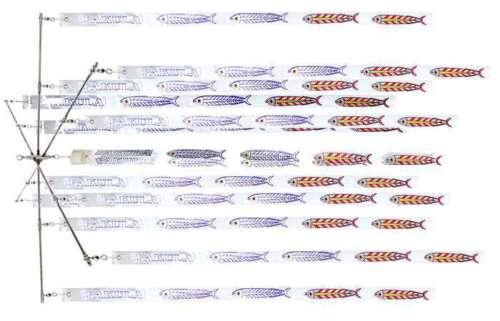 "Pakula Tackle 36/"" Dredge Bar Game Fishing Teaser includes 13 Strips"