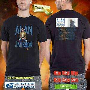 Limited-Rare-Alan-Jackson-The-Tour-2020-Logo-On-Unisex-Black-T-Shirt-M-3XL