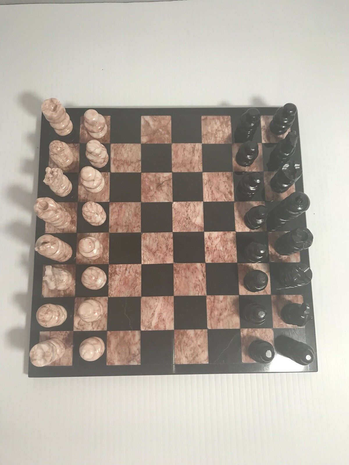 Vintage Marble Onyx Mexican He autoved Chess Set  & tavola  negozio online