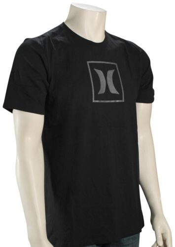 New Black Hurley Dri-Fit Icon Box Reflective T-Shirt