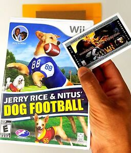 Jerry-Rice-amp-Nitus-039-Dog-Football-Wii-amp-Wii-U-Sealed-Limited-Collectors