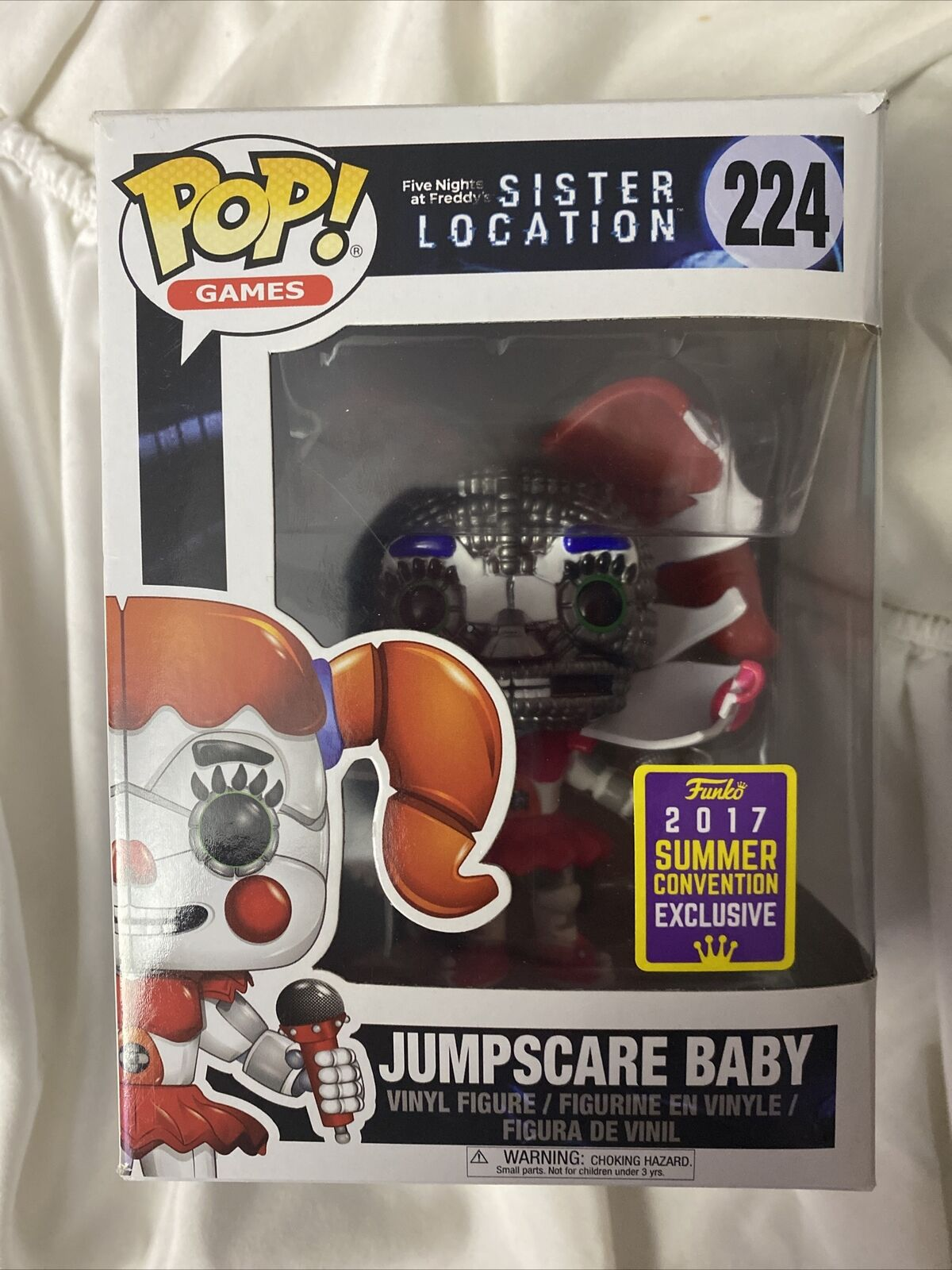 Jumpscare Baby Summer Conve POP Games Five Nights at Freddy/'s Sister Location