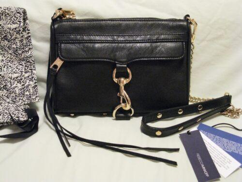 Nwt Mac Wgold Bag Minkoff Clutch Mini Rebecca 'black' Hardware Crossbody Ig6ybYf7vm