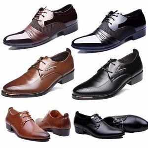 a4cd848e19c97 Image is loading Hombre-Vestir-Cuero-Zapatos-Zapatillas -Castellano-Mocasines-Formal-