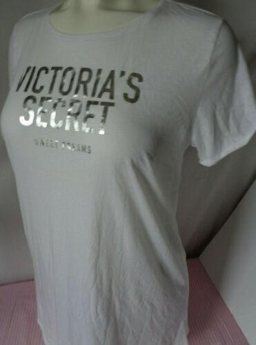 victoria/'s secret house dress night gown white m//l