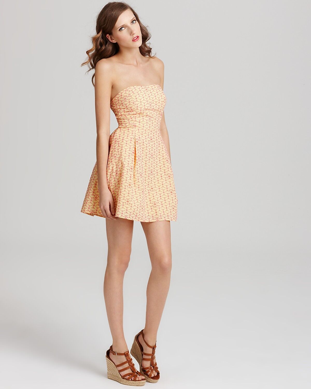 Lilly Pulitzer Felicity Starfruit Yellow Fly Away Embroidered Eyelet Dress