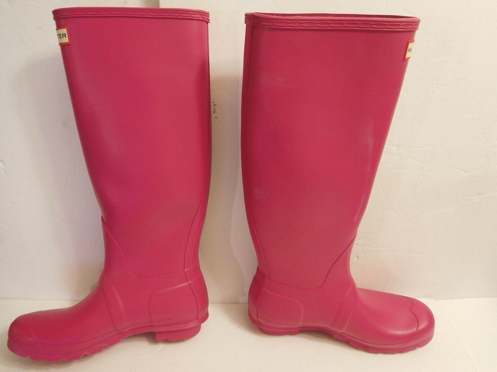 B-35 Hunter 'Original Tall' Rain Boot pink (Women)  Sz 8 150.00
