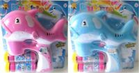 Large Summertime Bubble Gun Dolphin: Music, Lights+2 Refills+batteries- From Nyc
