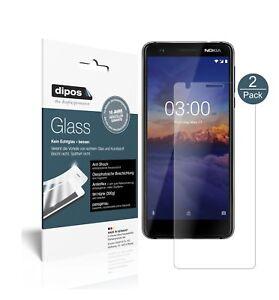 2x Pantalla para Nokia 3.1 Protector de Vidrio Flexible Mate Proteccion 9H dipos