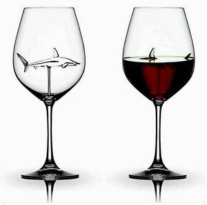 Home The Original Shark Red Wine Glass-Handmade Flutes Glass  Fast