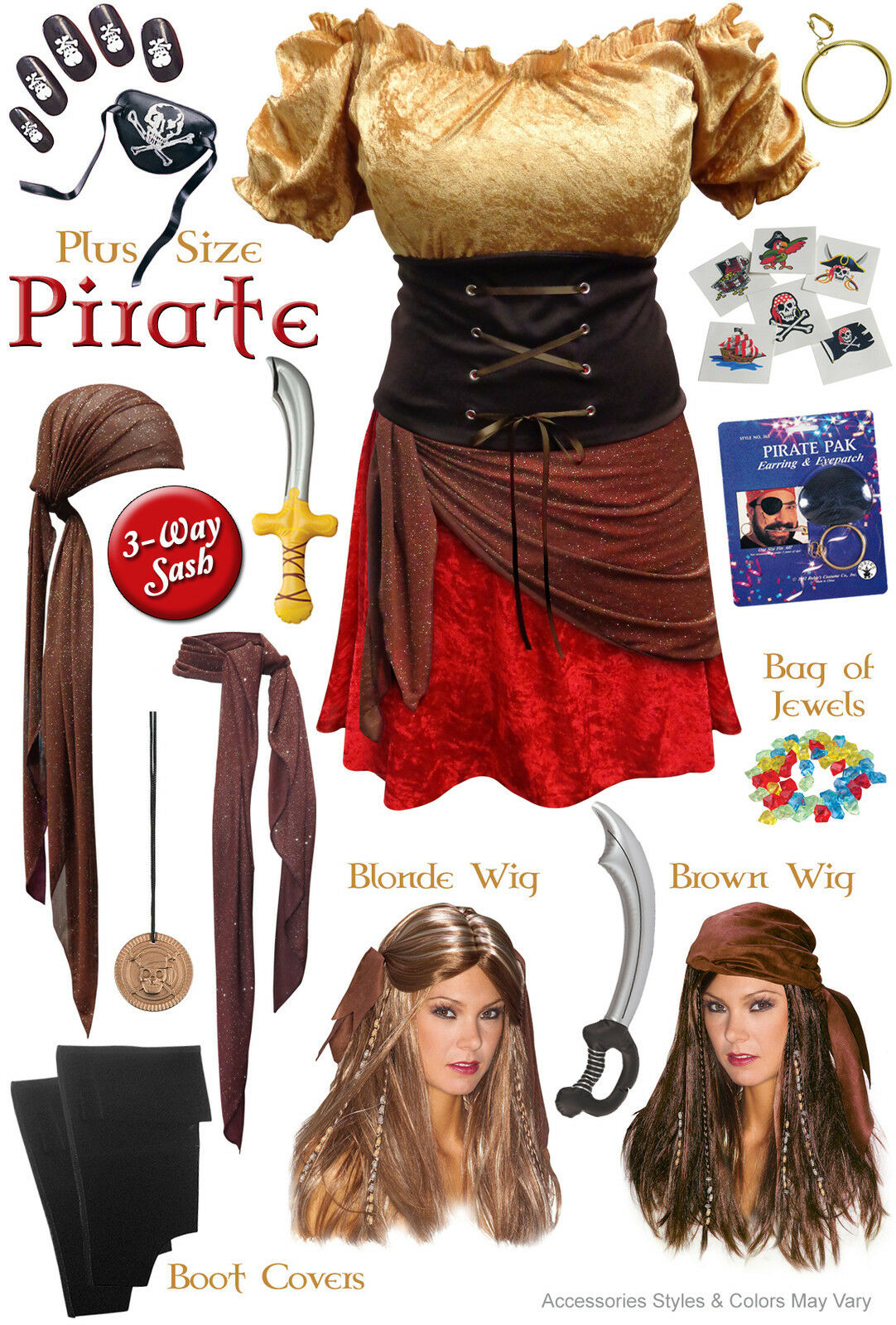 Sexy Pirate Plus Größe Costume Halloween Xl 0x 1x 2x 3x 4x 5x 6x 7x 8x 9x