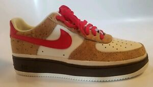 outlet store 9af23 a2c08 Details about NIKE AIR FORCE 1 LOW SAMPLE PROTOTYPE SINGLE SHOE CORK  UNIVERSITY RED DISPLAY