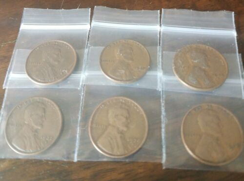 Semi Key 1934 D 1935 D 1936 D 1937 D 1938 D 1939 D Wheat Cent 6 Great Coins