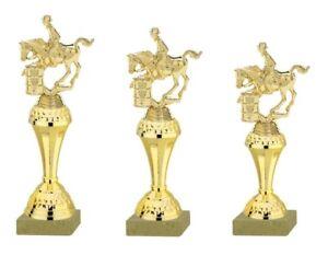 3er Serie Pokale Westernreiter gold (630-WR) 27-24cm inkl.Gravur 23,95 EUR