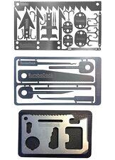 Credit Card Tool Set(3 TOOL Pack)Ultimate Prepper Survival 6pc Picking Tools Kit
