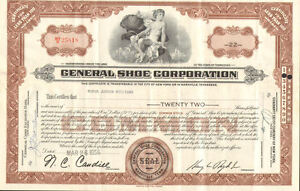 General-Shoe-Corporation-gt-1956-Nashville-Tennessee-stock-certificate-share