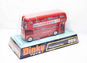 Dinky-289-Routemaster-Bus-Esso-en-su-caja-original-casi-Nuevo-Modelo-Vintage