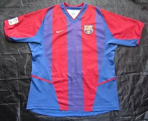 detailed look 6e640 16b6e Barca 2002-2003 FC Barcelona HOME shirt jersey by NIKE ...