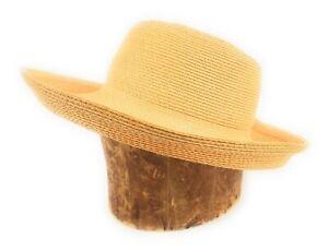 Eric-Javits-New-York-Squishee-Summer-sun-beach-hat-Light-Peach-NWOT-Condition
