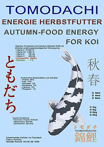 Nourriture d'automne Koi, nourriture énergétique, nourriture flottante Spiruline Mega Energy, 15kg 6mm