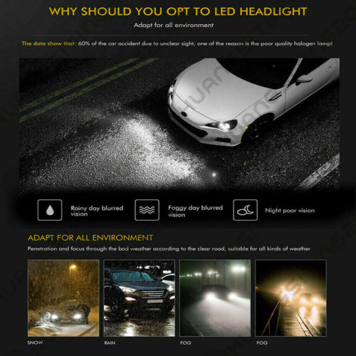 4Side 9005+9006 LED Headlight Bulb For Cadillac Escalade 2002 Deville 2000-2005