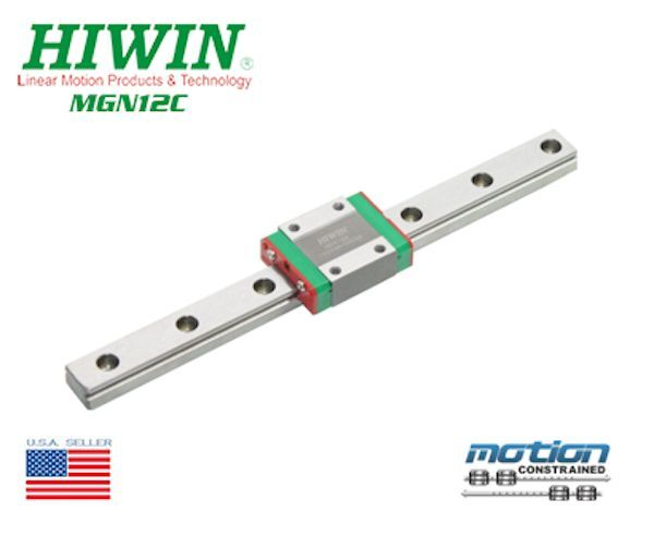 New Hiwin MGN12C Linear Guides MGN Linear Bearings   45mm to 1995mm Long