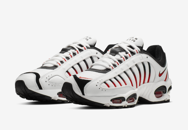 Nike Air Max Tailwind IV 4 White Black Habanero Red AQ2567-104 New Men's Shoes