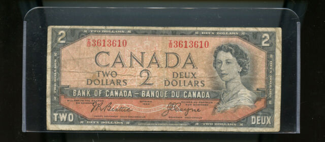 1954 Bank of Canada $2 Devil's Face Beattie Coyne WL25