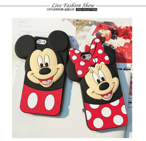 Mickey-Minnie-Mouse-Polka-Dot-Bow-Tilt-Ears-Soft-Case-for-IPhone-X-XS-Max