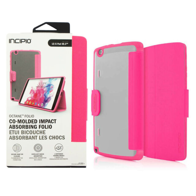 new concept 710a3 60c66 Incipio Octane Co-molded Impact Absorbing Folio Case for LG G Pad X8.3 Pink