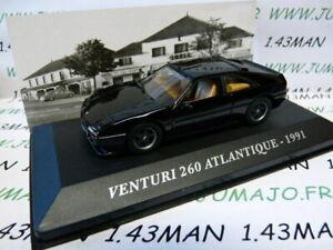 AUT5M-Voiture-1-43-IXO-altaya-Voitures-d-039-autrefois-VENTURI-260-Atlantique-1991