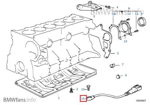 Z3 Engine Knock Ping Sensor 12141738667 New BMW E36 M3 S50 E34 525i M50