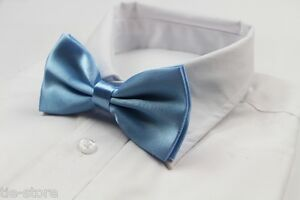 MENS-BABY-BLUE-BOW-TIE-Pre-Tied-Wedding-Formal-Classic-Fashion-Light-Accessory