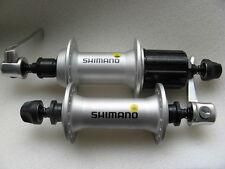 Naben Paar VR + HR  moyeux hubs 8/9-fach Shimano FH-M430/HB-M430 silber 32 Loch