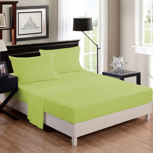 Image Is Loading 1 Piece Sage Fitted Bed Sheet 100 Egyptian