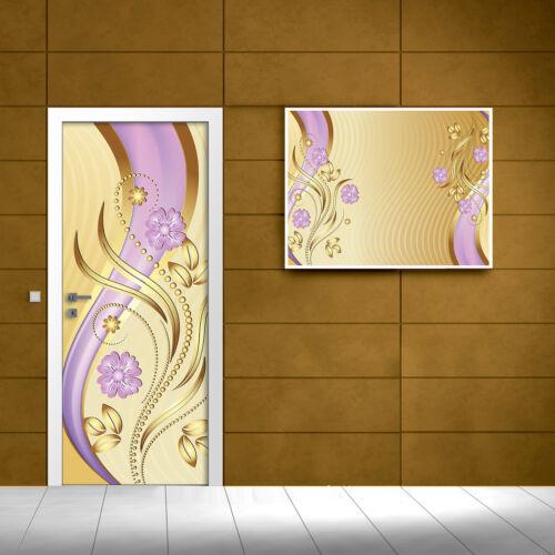 Toile poster papier peint papier peint gold ornament art accent DECORATION 3fx2139vet