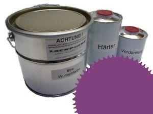 3 Liter Set 2K Floor Color Floor Ral 4001 Vinyl-Epoxid-Lack Lackpoint Shine