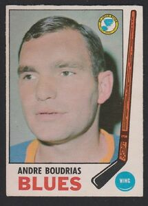 1969-70  OPC O PEE CHEE  # 16  ANDRE BOUDRIAS  EX-MT   INV 11009