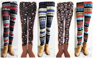 Kinder-Maedchen-Winterleggings-Winter-Leggings-Legings-Winterhose-Thermo-Hose-Neu