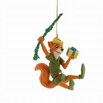 Disney Christmas Magic Grolier Tree Ornament Figurine Robin Hood Animated Fox