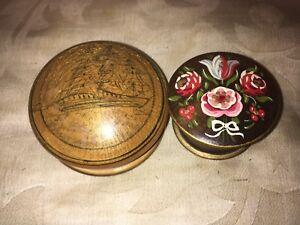 Dipingere Portagioie Di Legno : Vintage in legno pillola portagioie st. wolfgan dipinto floreale