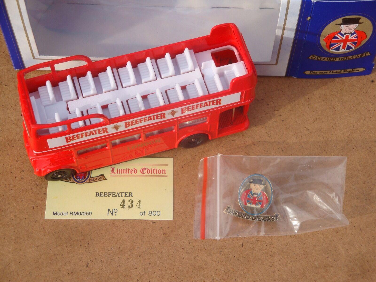 Oxford Diecast Diecast Diecast RM0 059, Beefeater, Routemaster Regent bus, 1 76 (very rare) 900271