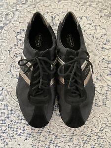 COACH Jayme Signature Sneakers Shoes Womens Size 8.5M Black Suede Q582