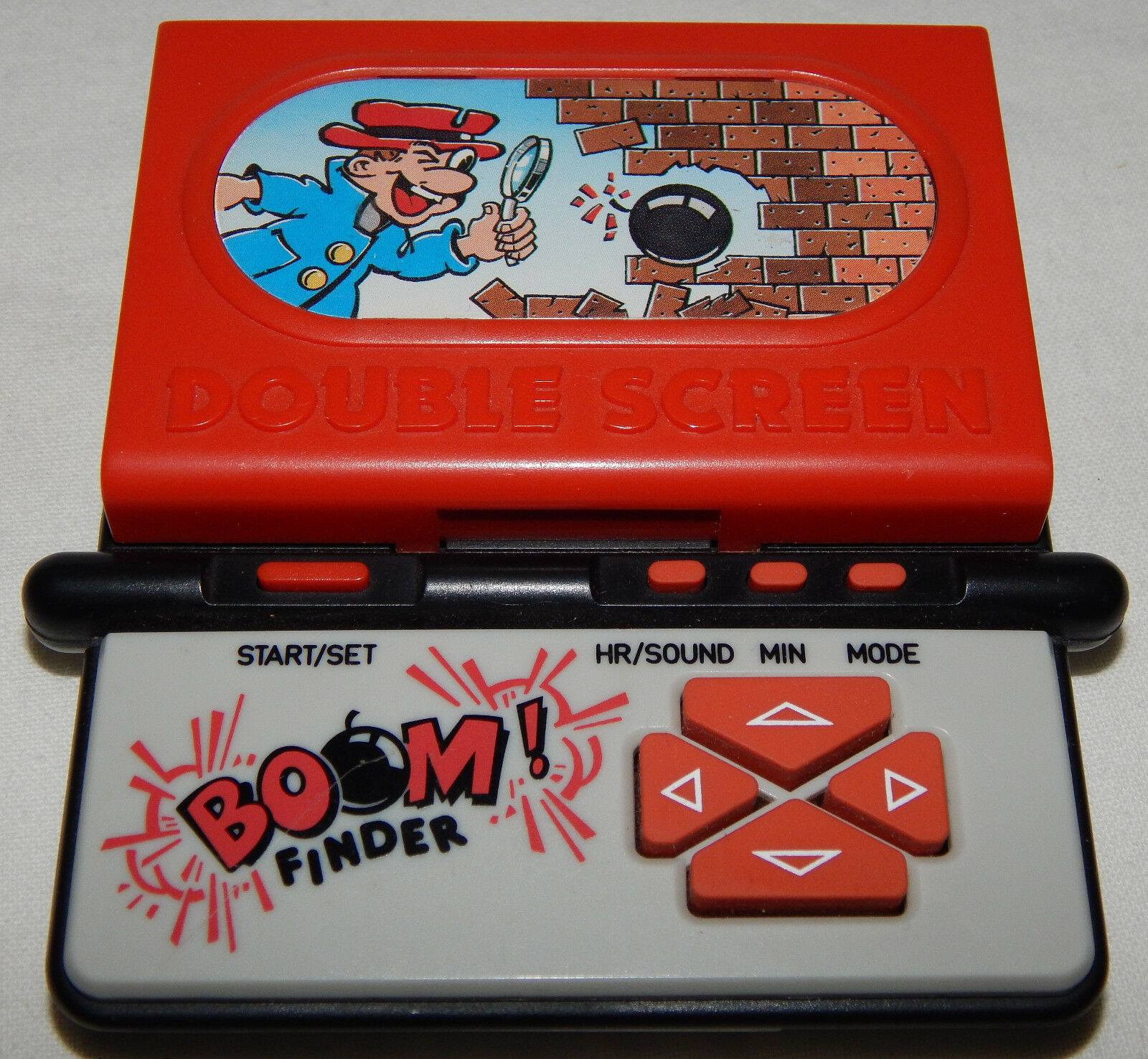 VINTAGE DUAL SCREEN BOMB FINDER LCD ELECTRONIC HANDHELD GAME BY SYSTEMA