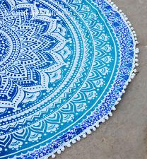 Indian Round Mandala Roundie Beach Throws Yoga Mat Bohemian Table Cloths e