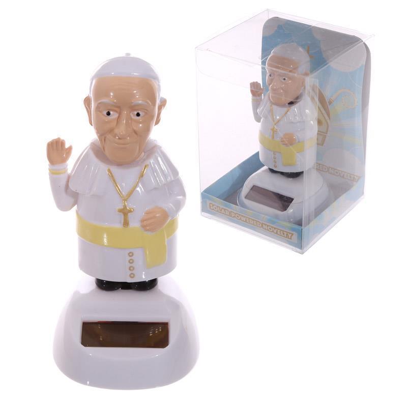 Solar Papst Solarbetriebene Pal Tanzende Figur Lustiges Geschenk Klapp Pals