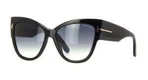 97e00cc474 Tom Ford ANOUSHKA FT 0371 black grey shaded (01B) Sunglasses