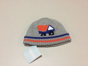 NWT Gymboree Dump Truck Sweater Hat Boy baby Beanie 0-6 6-12