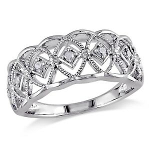 Amour-Sterling-Silver-1-10-Ct-TDW-Round-cut-Diamond-Ring-H-I-I3