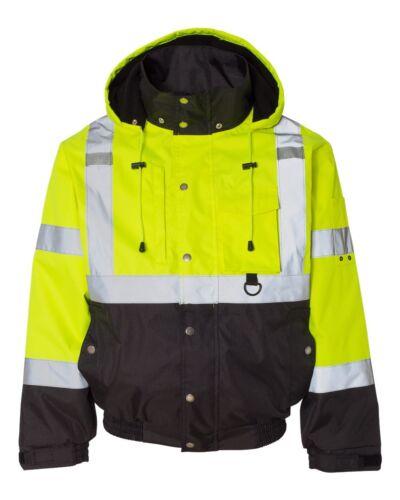 ML Kishigo High Visibility Jacket Safety CLASS 3 JS130 S-5XL Zip Deal